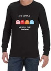 It's Simple Mens Long Sleeve T-Shirt Black (Small)