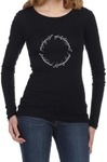 Lord of the Rings Script Womens Long Sleeve T-Shirt Black (XX-Large)