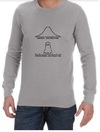 Normal Paranormal Mens Long Sleeve T-Shirt Grey (Small)