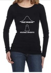 Normal Paranormal Womens Long Sleeve T-Shirt Black (Medium)