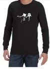 Pulp Fiction Adventure Time Mens Long Sleeve T-Shirt Black (Small)