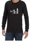 Pulp Fiction Simpsons Mens Long Sleeve T-Shirt Black (XXXX-Large)