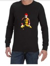 Ronald McDonald Joker Mens Long Sleeve T-Shirt Black (Medium)