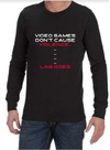 Video Game Violence Mens Long Sleeve T-Shirt Black (XXXX-Large)