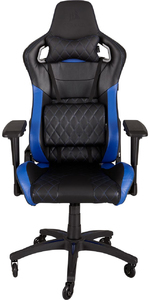 CORSAIR - T1 Race Padded Seat Padded Backrest Office/Computer Chair - Black/Blue