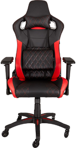 CORSAIR - T1 Race Padded Seat Padded Backrest Office/Computer Chair - Black/Red