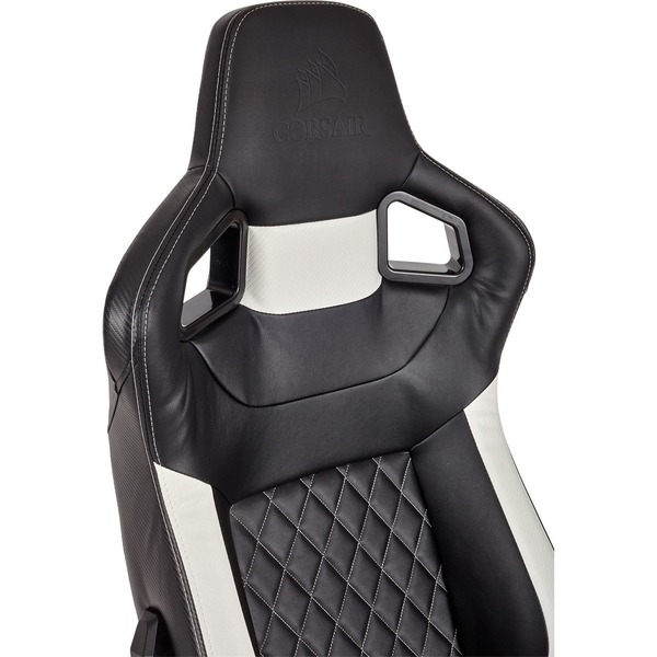 CORSAIR   T1 Race Padded Seat Padded Backrest Office/Computer Chair    Black/White