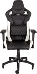 CORSAIR - T1 Race Padded Seat Padded Backrest Office/Computer Chair - Black/White