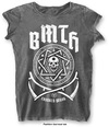Bring Me The Horizon - Crooked Young Ladies Burnout Charcoal T-Shirt (X-Small)