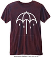 Bring Me The Horizon - Umbrella Mens Navy Red T-Shirt (X-Small)