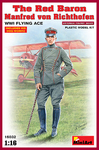 MiniArt - 1/16 - The Red Baron - Manfred von Rihthofen, WWI Flying Ace (Plastic Model Kit)