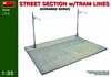 MiniArt - 1/35 - Street Section with Tram Lines (Plastic Model Kit)