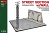 MiniArt - 1/35 - Street Section with Wall (Plastic Model Kit)