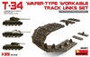 MiniArt - 1/35 - T-34 Wafer Type Workable Track Links Set (Plastic Model Kit)