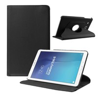 Tuff-Luv Rotating Leather Case Cover for Samsung Galaxy Tab A 7 Inch - Black (T285) - Cover