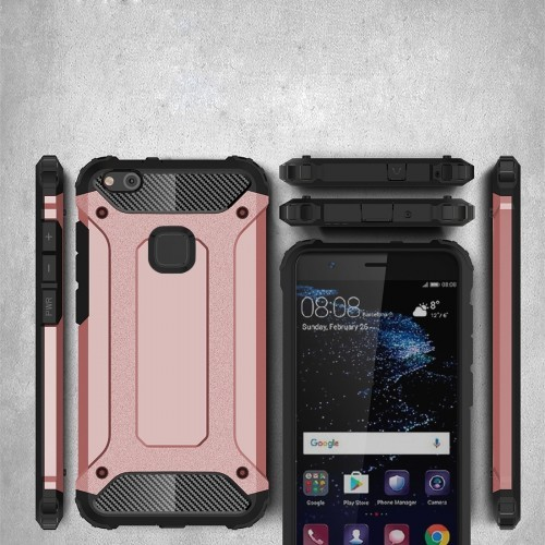 Tuff-Luv Tough Armour Layered Case for Huawei P10 Lite - Rose Gold