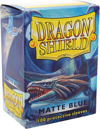 Dragon Shield - Standard Sleeves - Matte Blue (100 Sleeves) - Cover