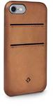 TwelveSouth Relaxed Leather Case for iPhone 7 with Card Holder - Cognac