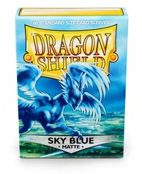 Dragon Shield - Standard Sleeves - Matte Sky Blue (60 Sleeves) - Cover