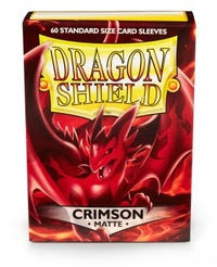 Dragon Shield - Standard Sleeves - Matte Crimson (60 Sleeves) - Cover