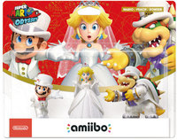 Nintendo amiibo - Mario/Peach/Bowser 3 Pack (Wedding Outfit) (For 3DS/Wii U/Switch) - Cover
