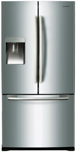 samsung french door refrigerator with no frost twin cooling system no frost with multiflow. Black Bedroom Furniture Sets. Home Design Ideas