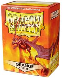 Dragon Shield - Standard Sleeves - Matte Orange (100 Sleeves) - Cover