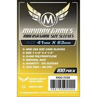 Mayday Games - Premium Mini USA Yellow Sleeves (100 Sleeves)