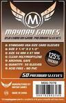 Mayday Games - Premium USA Dark Orange Chimera Sleeves 57.5 X 89 Mm (50) (50 Sleeves)