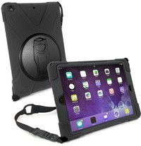 Tuff-Luv Armour Guard Case / Stand with Shoulder Strap and Built-in Screen Protection for Apple iPad Pro 10.5 Inch 2017 - Black