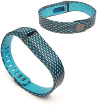 Tuff-Luv Adjustable Strap / Wristband and Clasp for Fitbit Flex - Checkers Turquoise (Small)
