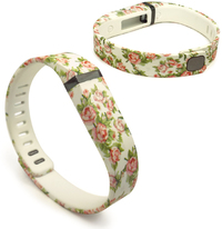 Tuff-Luv Adjustable Strap / Wristband and Clasp for Fitbit Flex - Secret Garden Beige (Small) - Cover