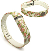 Tuff-Luv Adjustable Strap / Wristband and Clasp for Fitbit Flex - Secret Garden Beige (Small)