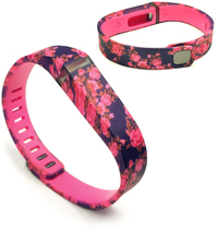 Tuff-Luv Adjustable Strap /  Wristband and Clasp for Fitbit Flex - Secret Garden Pink (Small)