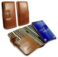 Tuff-Luv Alston Craig Genuine Vintage Leather Magnetic Wallet Case for Samsung Galaxy S8 - Brown