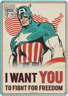 Marvel - Captain America A5 Metal Wall Sign