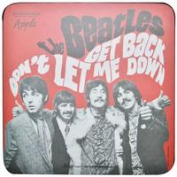 The Beatles - Get Back Single Coaster