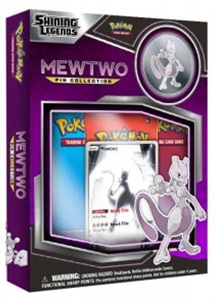 Pokemon TCG Shining Legends Pin Collection Mewtwo Sealed