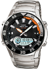 Casio Marine Gear Moon Tide Graph 100m Analog and Digital Watch - Black and Grey