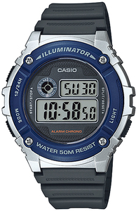 Casio Standard Collection 50m WR Digital Watch - Silver and Blue - Cover