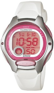 Casio Standard Collection 50m WR Digital Watch - Pink and White - Cover