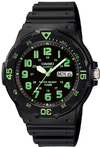 Casio Standard Collection 100m WR Analog Watch - Black and Green