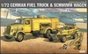 Academy - 1/72 - WWII German Fuel Truck & Schwimwagen (Plastic Model Kit)