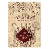 Harry Potter - Marauder's Map (Metal Wall Sign A5) - Cover