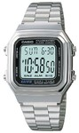 Casio Retro Dual Time Digital Watch - Silver