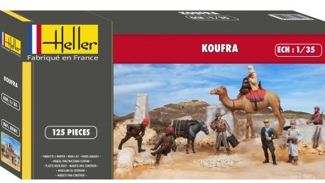 Heller - 1/35 - Koufra (French C olonials) Diorama Set (Plastic Model Kit)