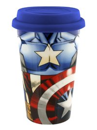 Marvel - Captain America Torso Ceramic Travel Mug - Cover