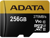 ADATA - Premier ONE V90 256GB miCroSDXC with SDXC adapter Memory Card - Cover