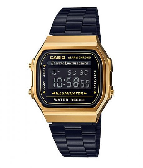 bbd45d5662fe Casio Vintage Retro WR Digital Watch - Black and Gold - Electronics ...