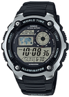 Casio Standard Collection 10 Year Battery 200m WR Digital Watch - Black and Silver